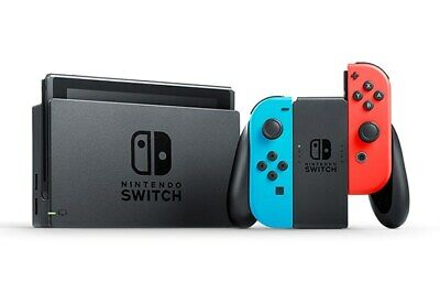 Nintendo Switch Gaming Console with Neon Red and Blue Joy-Cons