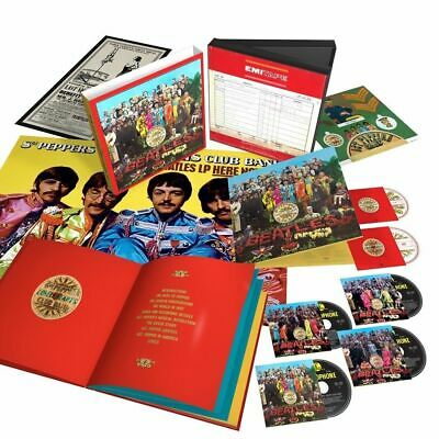 Beatles Sgt Pepper sealed 50th Anniversary Super Deluxe 4CD BluRay DVD Box