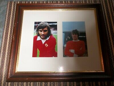 George Best,Footballer, Photo proof, ORIGINAL SIGNED photo matted with Photo