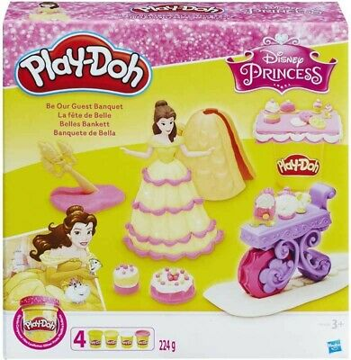 PLAY-DOH Disney Princess Belle Play set with extra Sparkle play doh bundle