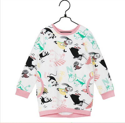 Moomin Butterfly Sweat Tunic Off-white Martinex Finland