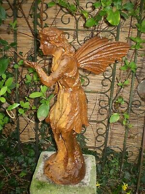 Architectural Salvage, Vintage french 1950's Fairy Statue, Jardin Reclamation