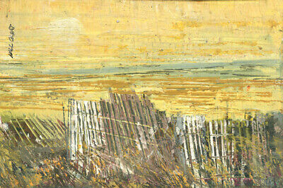 Provincetown Bay 4x5 in.  Acrylic on panel  Hall Groat Sr.