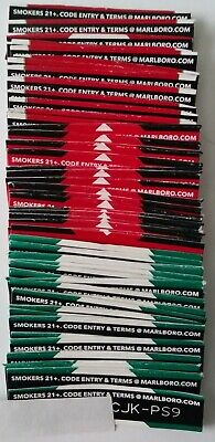 100 Unused Marlboro Reward Codes=10,000 Points. Triple Counted For Accuracy