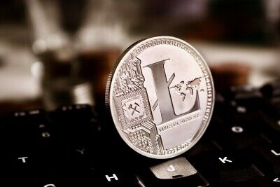 litecoin silver commemorative coin includes case/seal bag