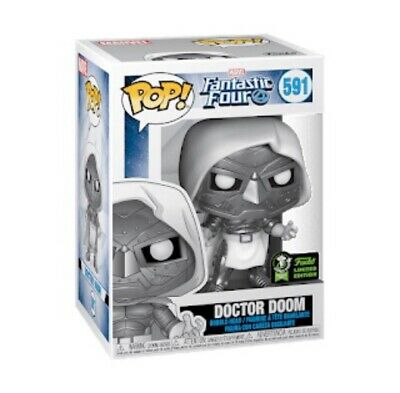 Funko Pop Marvel White Doctor Doom 2020 ECCC Shared Exclusive Preorder