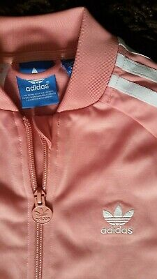 **Childs/Girls Pink ADIDAS Tracksuit Top**Age 9-10 Years**