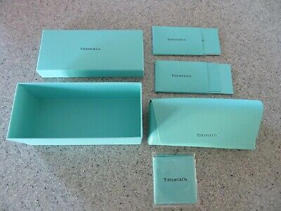 TIFFANY & CO. sun/eyeglasses box w/hard case, pouch and all product cards, NEW