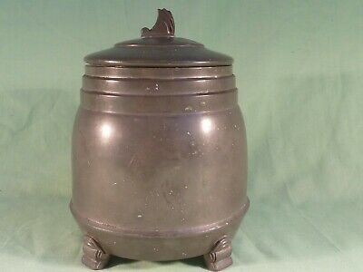 Arts & Crafts Frank Cobb And Company Period Pewter Biscuit Barrel 752P .