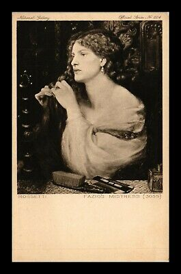 Dr Jim Stamps Fazios Mistress Rossetti Art Postcard National Gallery London