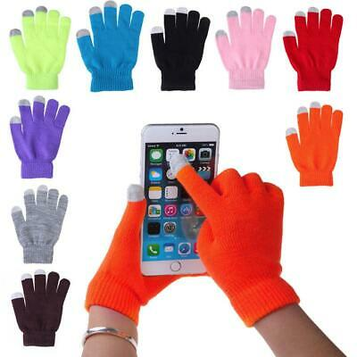 Women Men Touch Screen Soft Cotton Winter Gloves Warmer Smartphones New