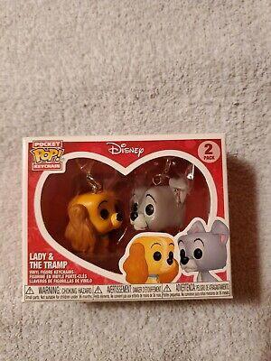 Disney Treasures Exclusive Funko Pocket Pop! Lady and The Tramp Keychain 2 Pack