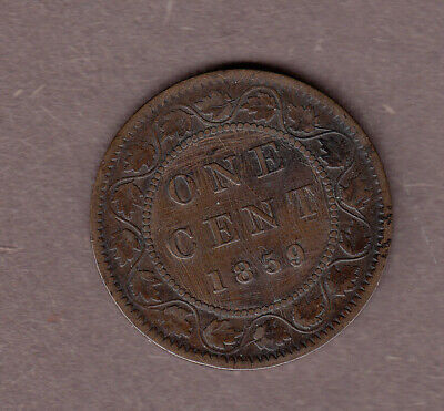 1859 Canadian Large Cent ~ Very-Fine Condition (light scratches)