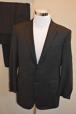 NWT $1,795 Canali 1934 Men's Wool Suit in Solid Charcoal 50-IT/40-US