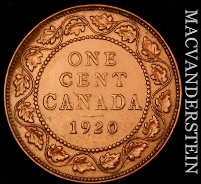 Canada: 1920 One Large Cent - Scarce  High Grade  #NR4815