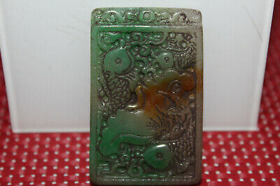 China's Yongshan culture hand-carved emerald mascot pendant