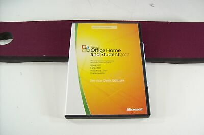 Microsoft MS Office 2007 Home and Student Edition Disc with Key