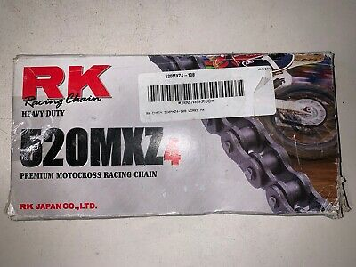 RK Racing Chain GB520MXZ4-122 122-Links Gold MX Chain with Connecting Link