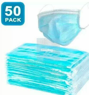 Medigo 50 Pcs Disposable Two Layer Surgical Medical Dental Face Masks With Earlo