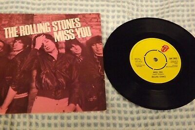 the rolling stones miss you single  ex condition