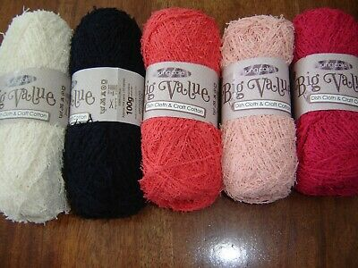 King Cole Big Value Dish Cloth & Craft 100% cotton knitting yarn 5 x 100g