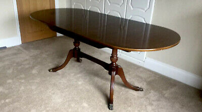 Strongbow Antique Reproduction Pedestal Dining Table Extending