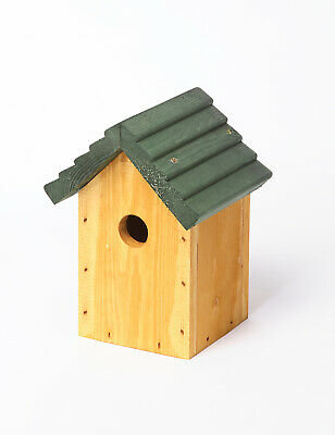 Wooden Bird Box House Home Hut Cosy Bird Pitched Roof 32mm Tom Chambers