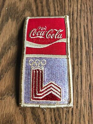 "COCA-COLA-/"" RED /& WHITE/"" EMBROIDERED IRON ON PATCHES 2-1//4 X 4-3//8"