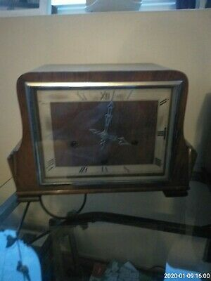 Enfield Westminster chime mantle clock with key. 1930s