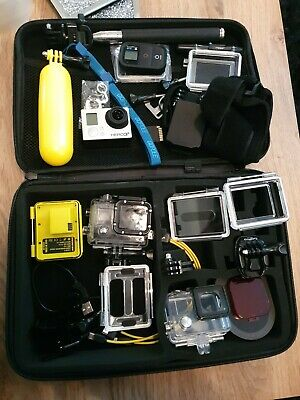 Go Pro HERO 3+ Black edition action camcorder with accessories