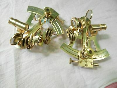 Set OF 2 Pcs Solid Brass Sextant Maritime Collectible Instrument Nautical Gift