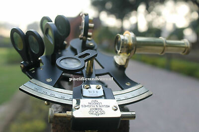 """Nautical 4"""" Solid Brass Sextant Maritime Astrolabe Marine Gift Ships Instrument"""