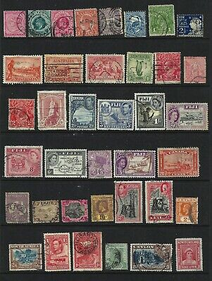 Britain & Colonies Collection 2 scans Good/Fine Used Unchecked for wmks, perfs