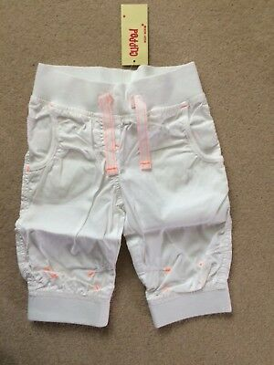 BNWT Next white cropped boarder trousers age 4 years