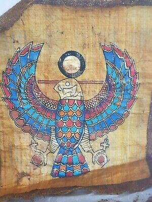 Rare Antique Ancient Egyptian Papyrus God Horus Falcon Protection 1670-1680BC