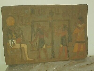 Rare Antique Ancient Egyptian Stela judgement day scale Paradise  1740-1670 BC