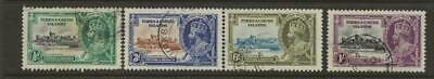 TURKS and CAICOS 1935 SG187-9 KGV Silver Jubilee Set Fine Used Omnibus