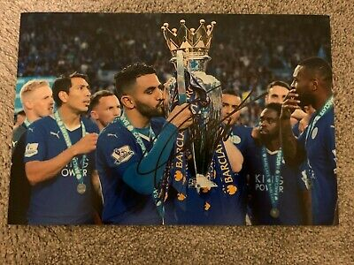 RIYAD MAHREZ - Hand Signed 12x8 Photo - Leicester Man City Algeria - Football