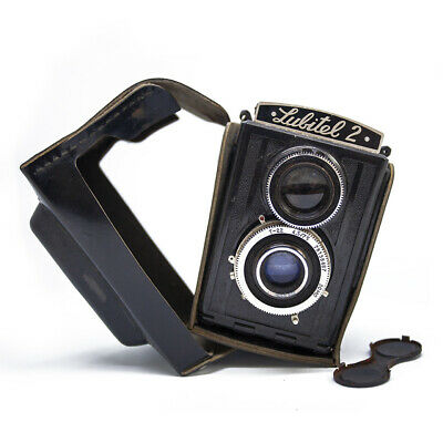 Lomo Lubitel 2 Twin Reflex Camera Photography Vintage Russian TLR in Case