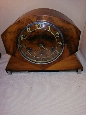 Haller, Westminster Chimes Mantle Clock in Fantastic Art Deco Case.Working Order