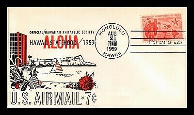 Dr Jim Stamps Us Hawaii Air Mail First Day Cachet Cover Scott C55
