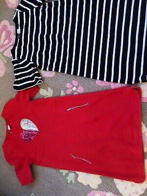 Gymboree Size 14 And Crewcuts Size 12Girls Short Sleeves Dresses Lot Of 2