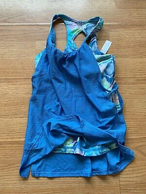 Ivivva Girls Blue Tank Top with built in Sports Bra. Size 10