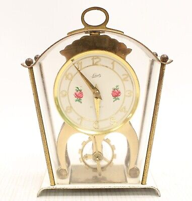Vintage SCHATZ & SOHNE Two Jewels 8 Day Wind Up CARRIAGE CLOCK 15x10x5cm - T24