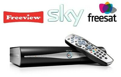 Sky Freeview & Freesat Box With Leads And Remote, Hd Plus +