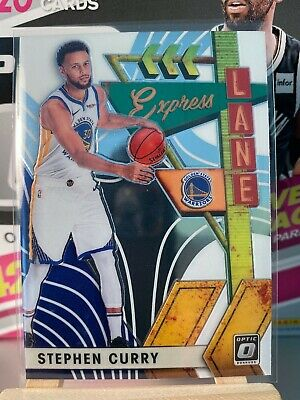 Stephen Curry Express Lane Insert 2019-20 Panini Donruss Optic Basketball