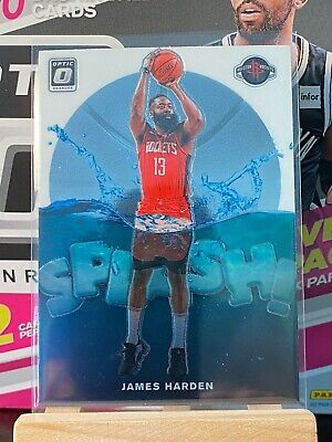 James Harden Splash! Insert 2019-20 Panini Donruss Optic Basketball