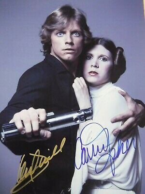 "Mark Hamill, Carrie Fisher  Dual Signed ""Star Wars"" Photo"