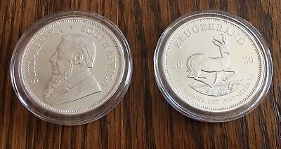 2020 South Africa Silver Krugerrand Coin   - Uncirculated - 1 Ounce -.999 Fine