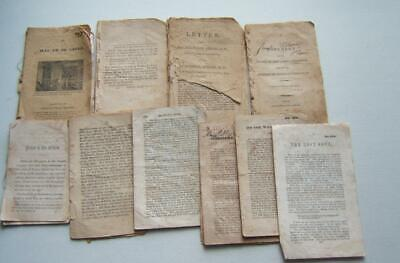 10 ANTIQUE EARLY 1800's BOOKLETS BOOK SOME PARTIAL PAGES